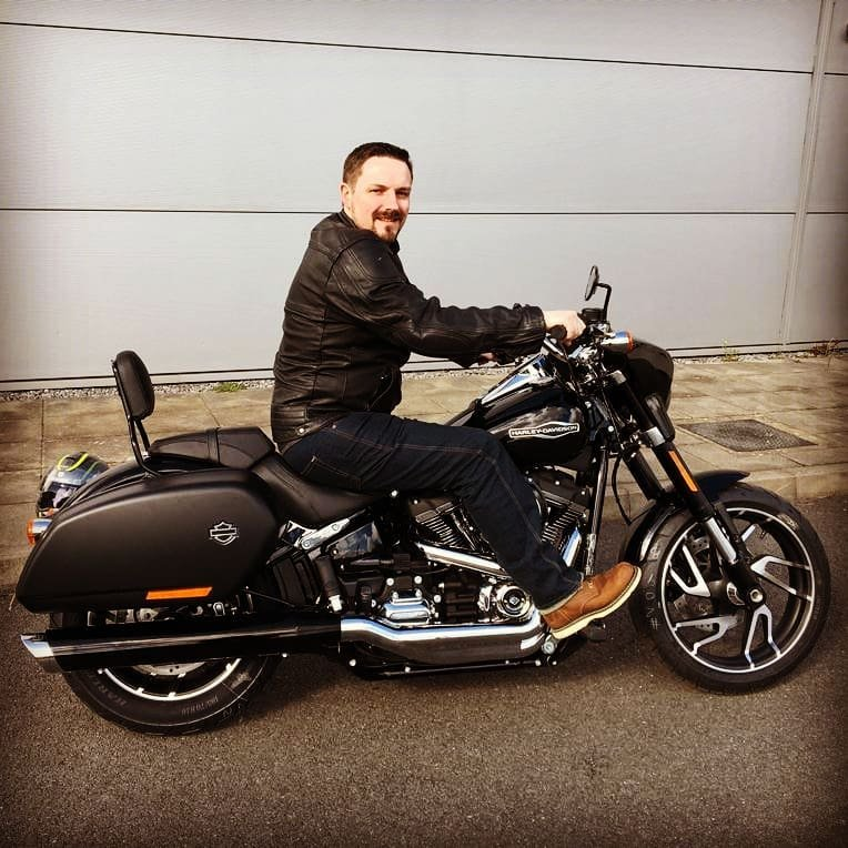 Picking up my new Harley